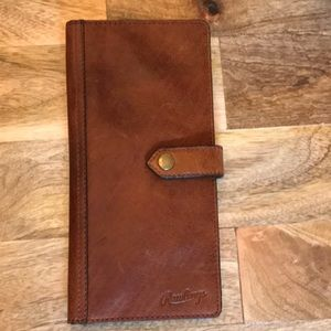 Rawlings leather travel wallet